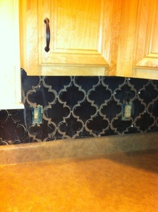 Hand made arabesque tile backsplash how to