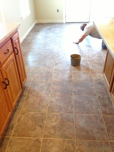 grouting the floor