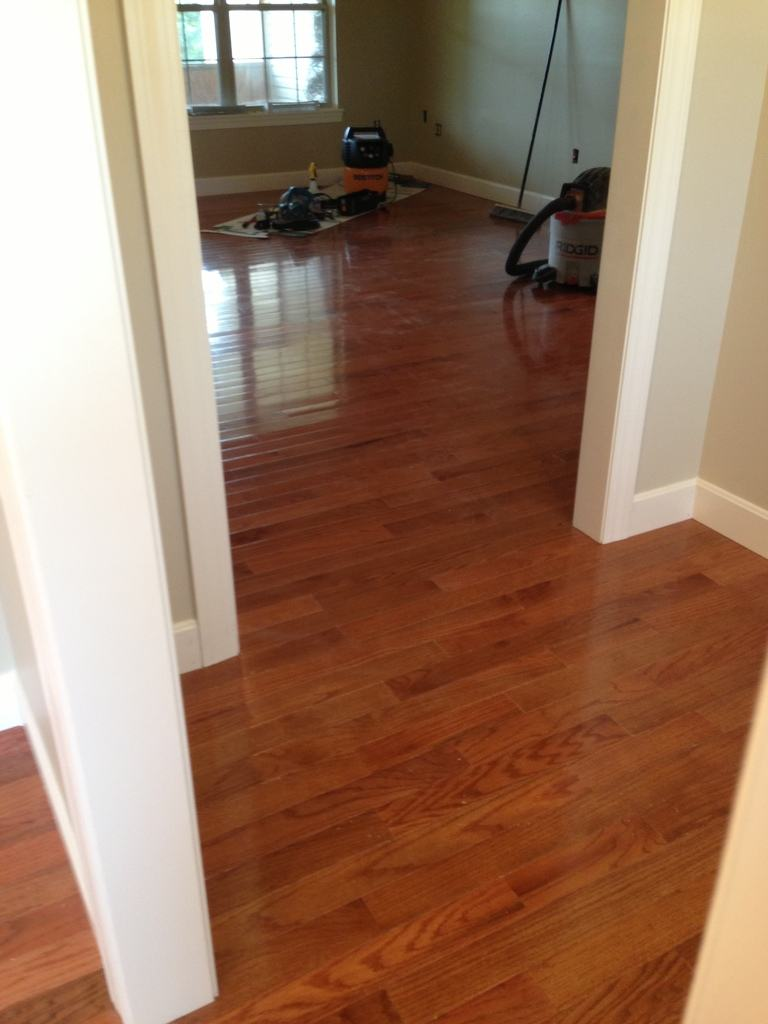 Hardwood Floor Installed