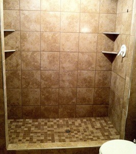Custom tile shower waterproof schulter systems latictere grout