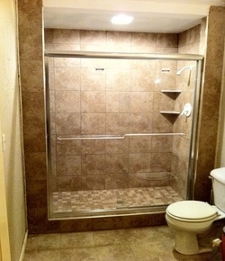 Columbia mo waterproof shower custom tile shelves niches