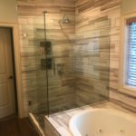 Columbia MO tile shower, wood look tile shower, custom tile shower, bathroom remodel