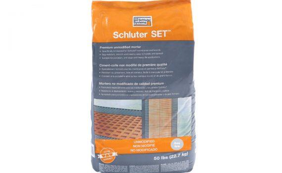 Schluter set mortar, Columbia MO, certified tile installer