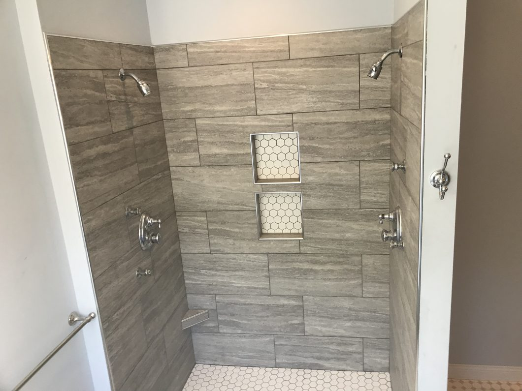 Columbia Missouri tile shower installer, lifetime warranty